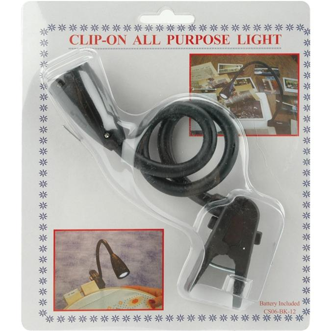 EDMUNDS Clip-On All-Purpose Light - Black