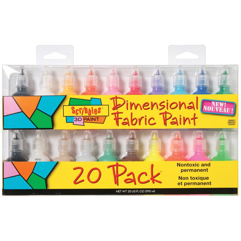 I Love To Create Tulip Scribbles 3D Fabric Paint - 20 Pack