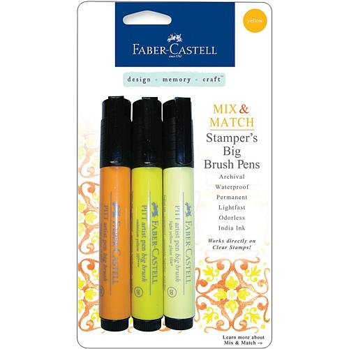 Big Brush Pens - 3-pack Yellow