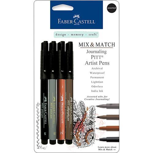 Mix and Match Pitt Artist Pens - 4-pack Assorted Journaling