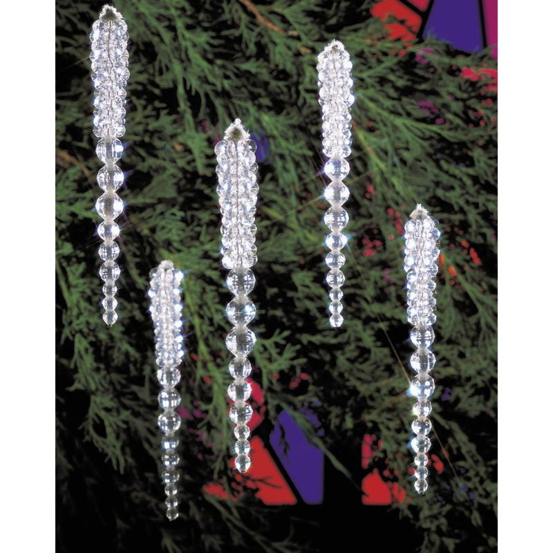 Beadery Holiday Beaded Ornament Kit - Sparkling Icicles