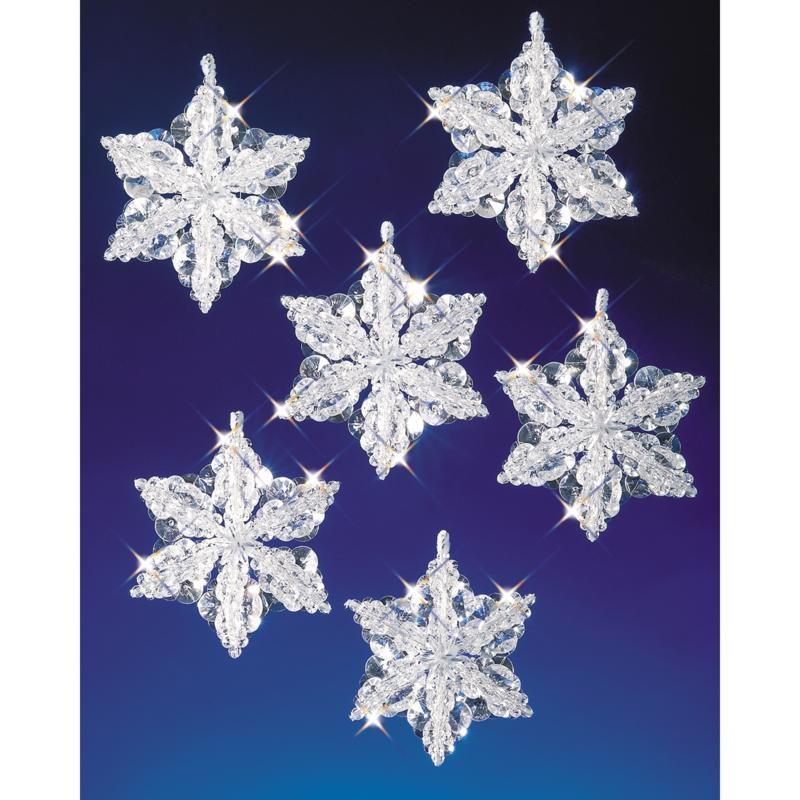 Beadery Holiday Beaded Ornament Kit - Snow Crystals