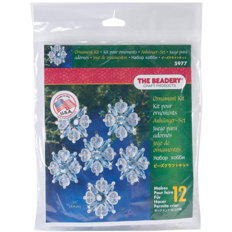 Beadery Holiday Beaded Ornament Kit - Filigree Snowflake