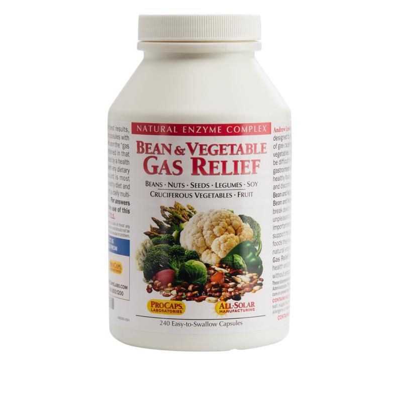 Andrew Lessman Bean and Vegetable Gas Relief - 240 Capsules