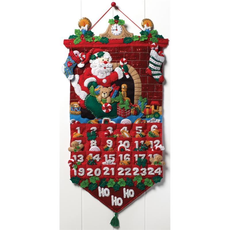 BUCILLA Must Be Santa Advent Calendar Felt Applique Kit