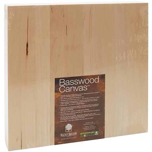 Basswood Canvas - 12