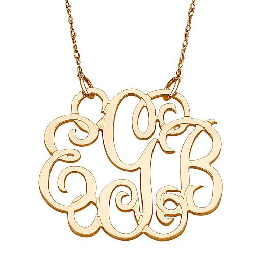 14K Gold 3-Initial Fancy Monogram 19