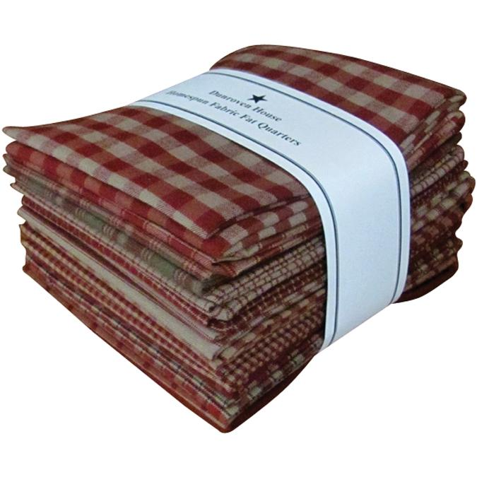 Dunroven House Dunroven House Homespun 12-piece Fat Quarter Bundle - Red