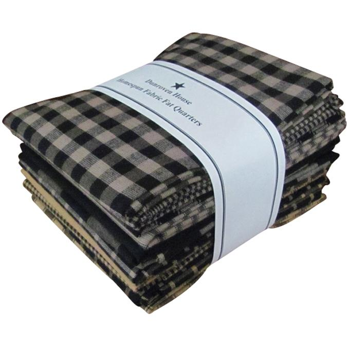 Dunroven House Dunroven House Homespun 12-piece Fat Quarter Bundle - Black
