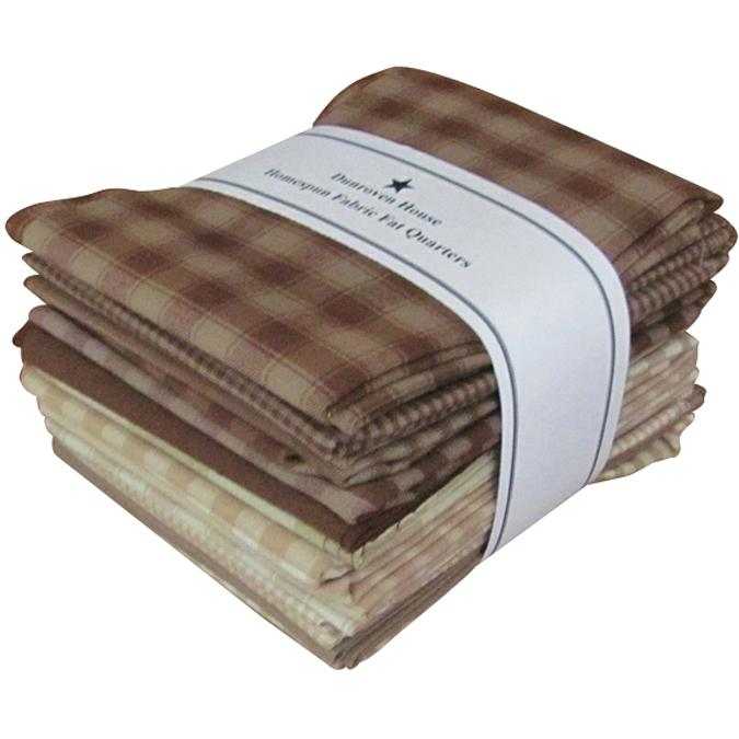 Dunroven House Dunroven House Homespun 12-piece Fat Quarter Bundle - Brown/Natural