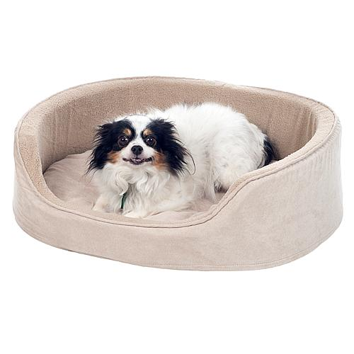 PAW Cuddle Round Sueded Terry Pet Bed - Clay - Large