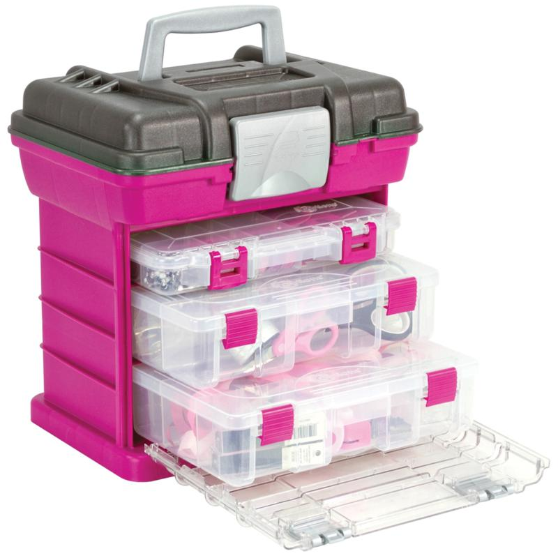 Creative Options Creative Options Grab'n Go 3-By Rack System - Magenta/Sparkle Gray