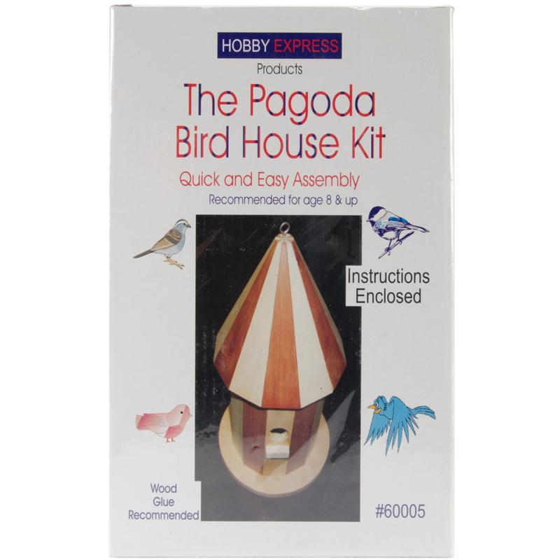 Pinepro Pagoda Wood Bird House Kit - Unfinished