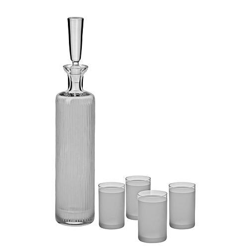 Ravenscroft Crystal 5-piece Vodka Decanter and Shot Glass Set