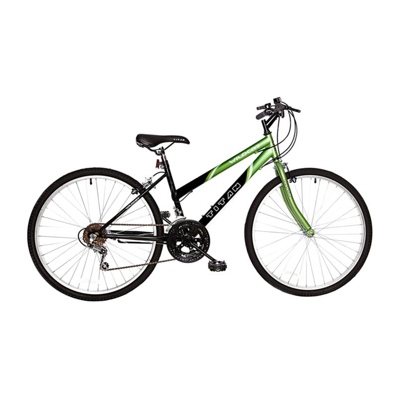 Bike USA Titan Wildcat Women's 12-Speed Mountain Bike - Lime Green and Black