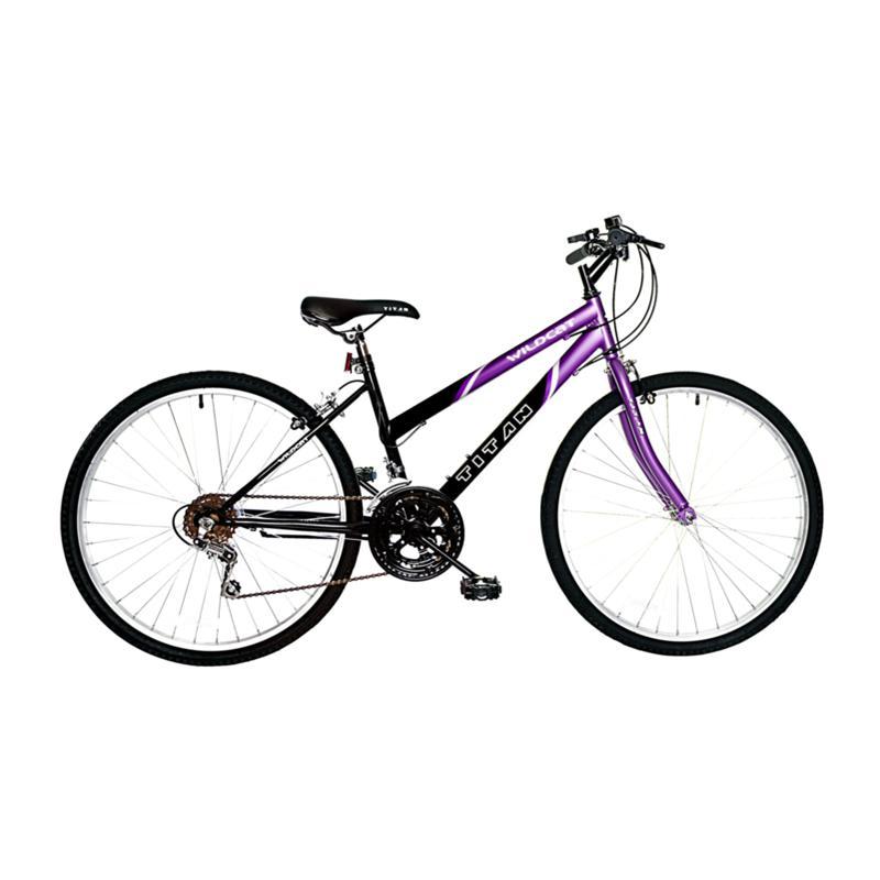 Bike USA Titan Wildcat Women's 12-Speed Mountain Bike - Purple and Black