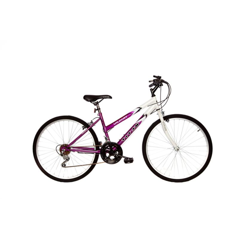 Bike USA Titan Wildcat Women's 12-Speed Mountain Bike - White and Lavender