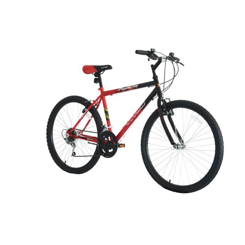 Bike USA Titan Pioneer Men's 12-Speed Mountain Bike - Red