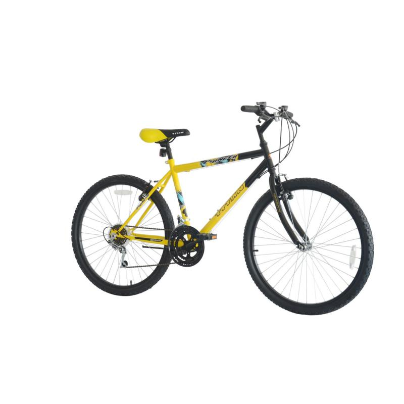 Bike USA Titan Pioneer Men's 12-Speed Mountain Bike - Yellow