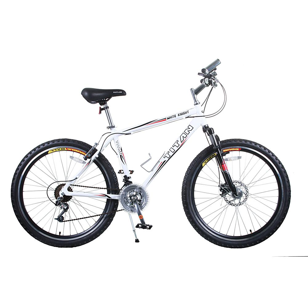 Titan White Knight Men's 21-Speed Mountain Bike with Front Disc Brakes