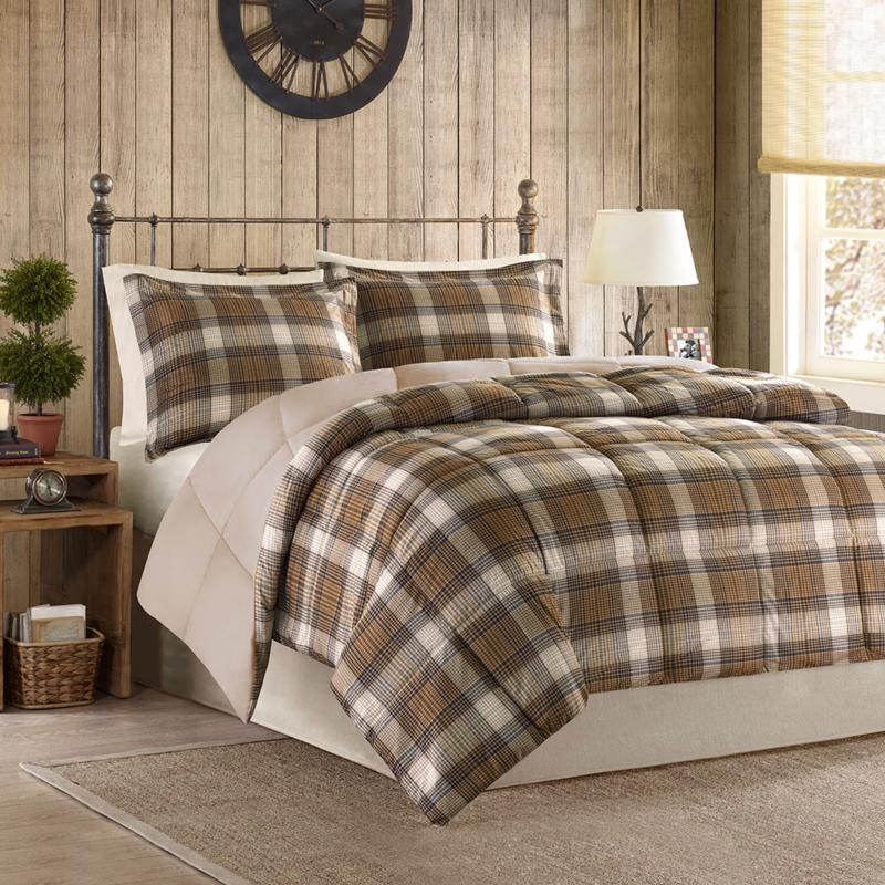 E and E Co., LTD. Woolrich Lumberjack Down Alternative Comforter Mini Set - King