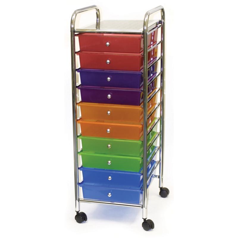 Cropper Hopper Cropper Hopper Home Storage Rolling Organizer - 10 Drawer - Multicolored