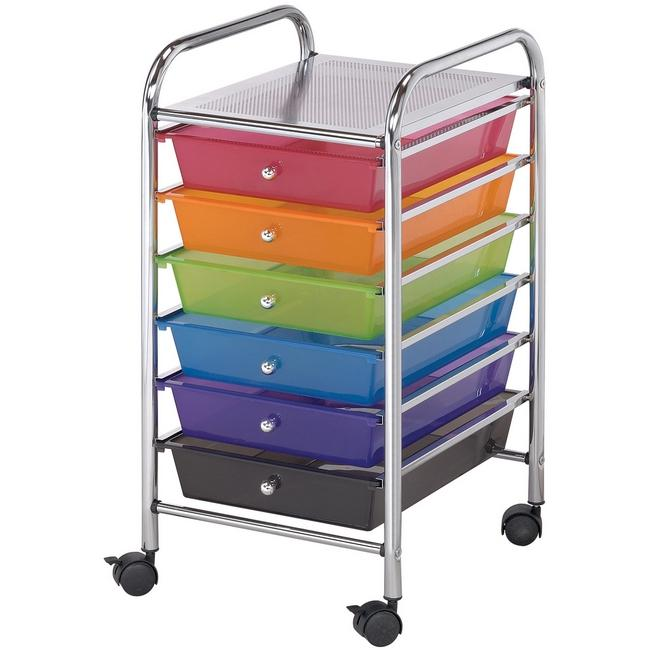 Blue Hills Studio Storage Cart W/6 Drawers - 13X26X15.5 Multicolor