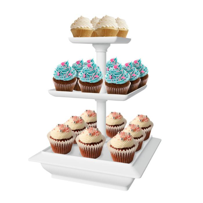 Chef Buddy Chef Buddy 3-Tier Cupcake Dessert Stand Tray with 10 Options