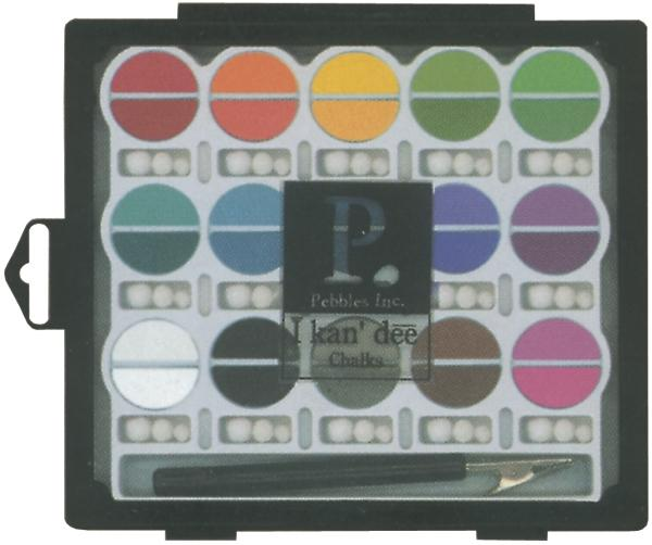 AMERICAN CRAFTS Pebbles I Kan'dee Chalk Set - Basic Brights