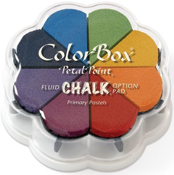 CLEARSNAP Fluid Chalk Petal Point Ink Pads - Primary Pastels