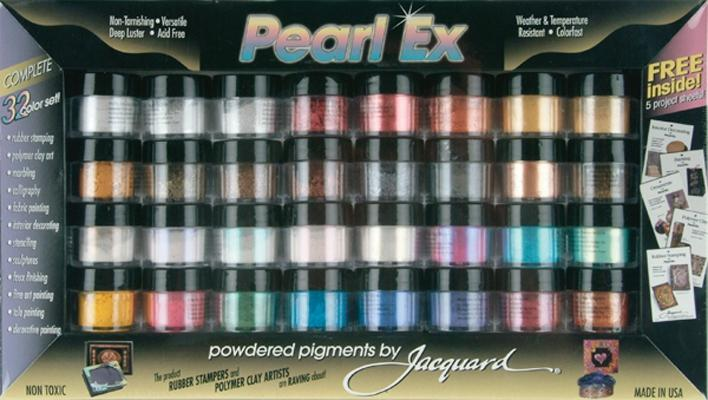 JACQUARD PRODUCTS Pearl Ex Powdered Pigments 32-Color Set