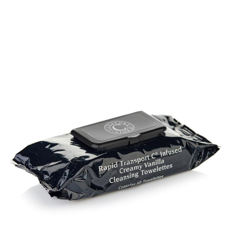 Signature Club A Rapid Transport C Infused Creamy Vanilla Cleansing Towelettes