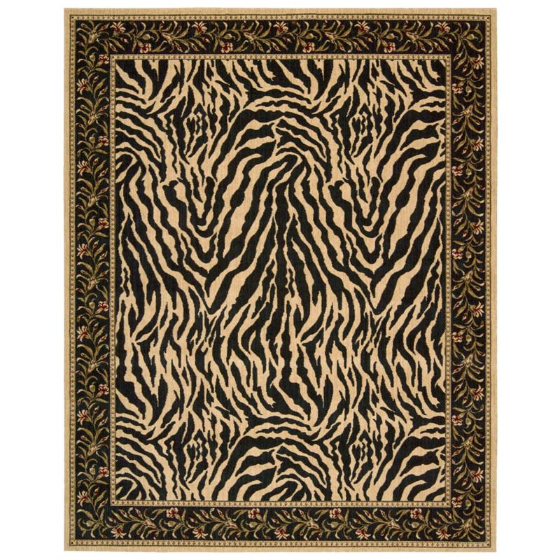Andrea Stark Home Collection Zebra-Print Wool Rug - 7' x 9'
