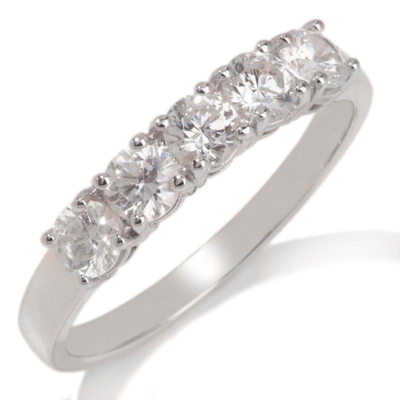 Absolute 1.25ct Absolute Round 5-Stone Ring