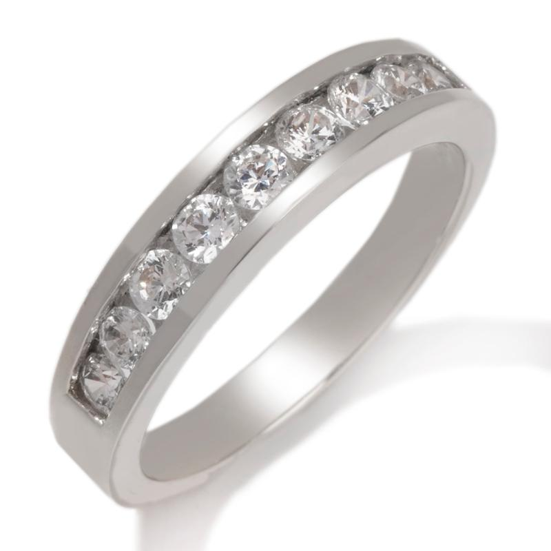 Absolute .78ct Absolute Round Channel-Set 9-Stone Ring