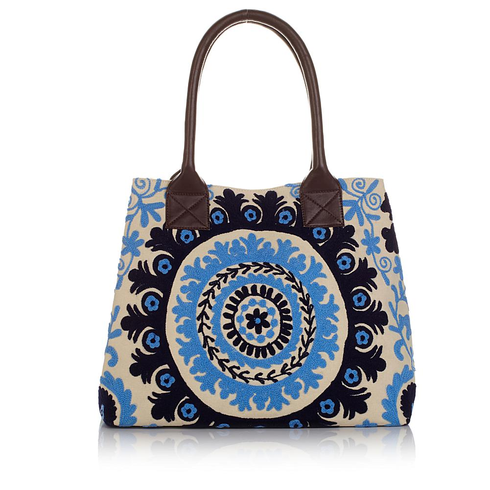"BAJALIA ""Rekha"" Embroidered Oversized Floral Tote"