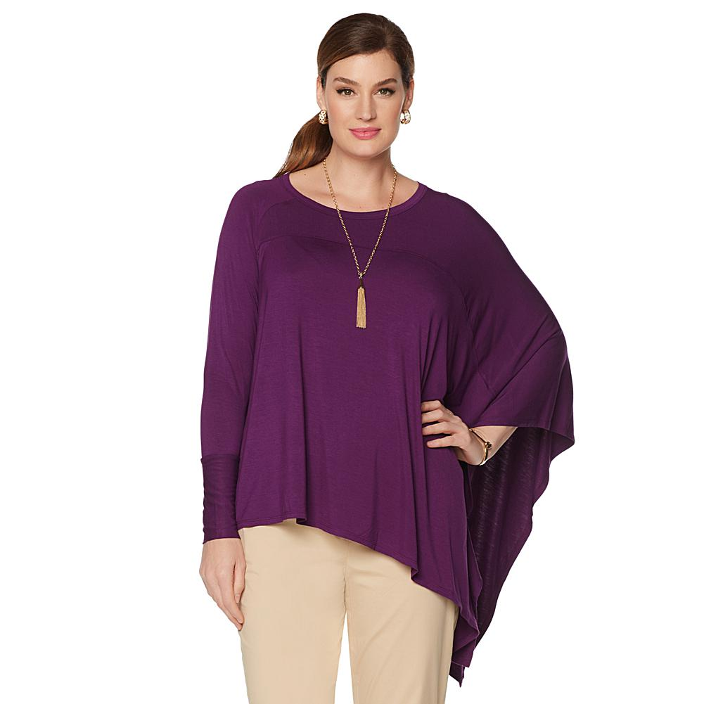 Wendy Williams Asymmetrical Poncho Top
