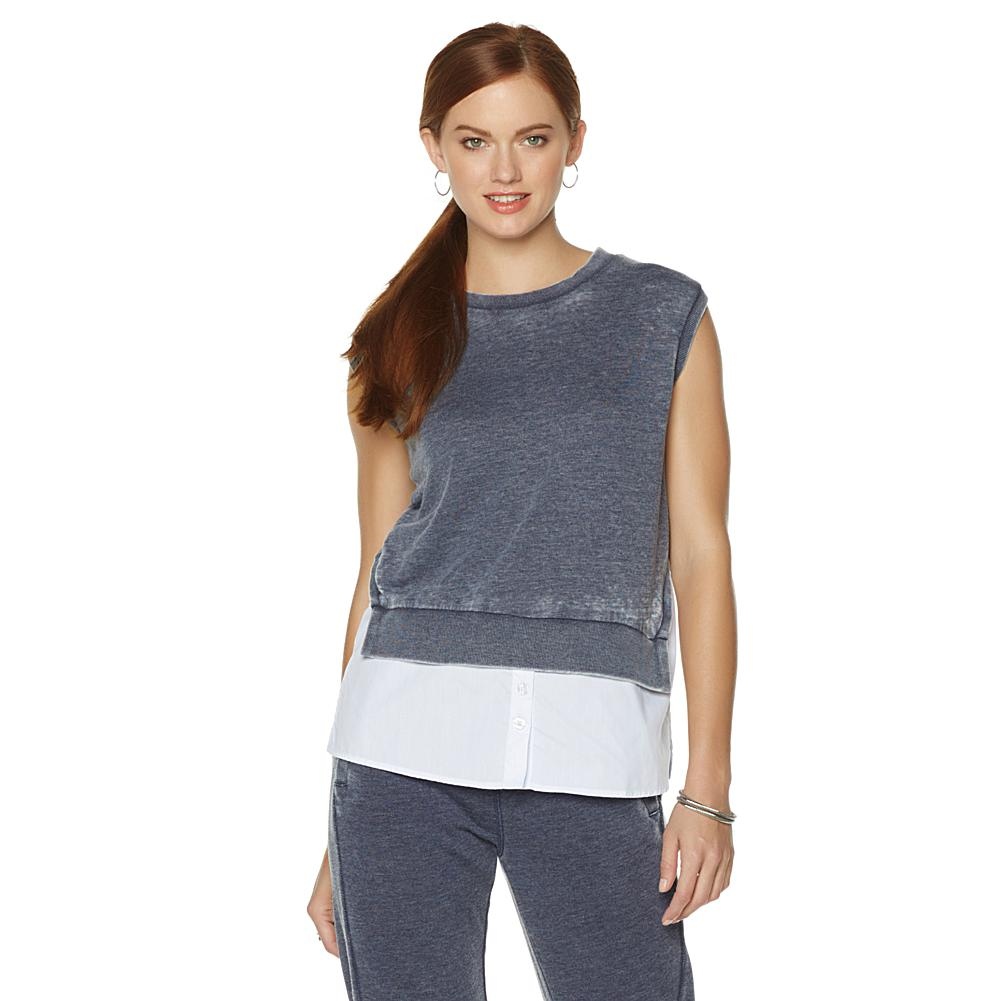 Wendy Williams Burnwash Top and Poplin Tank
