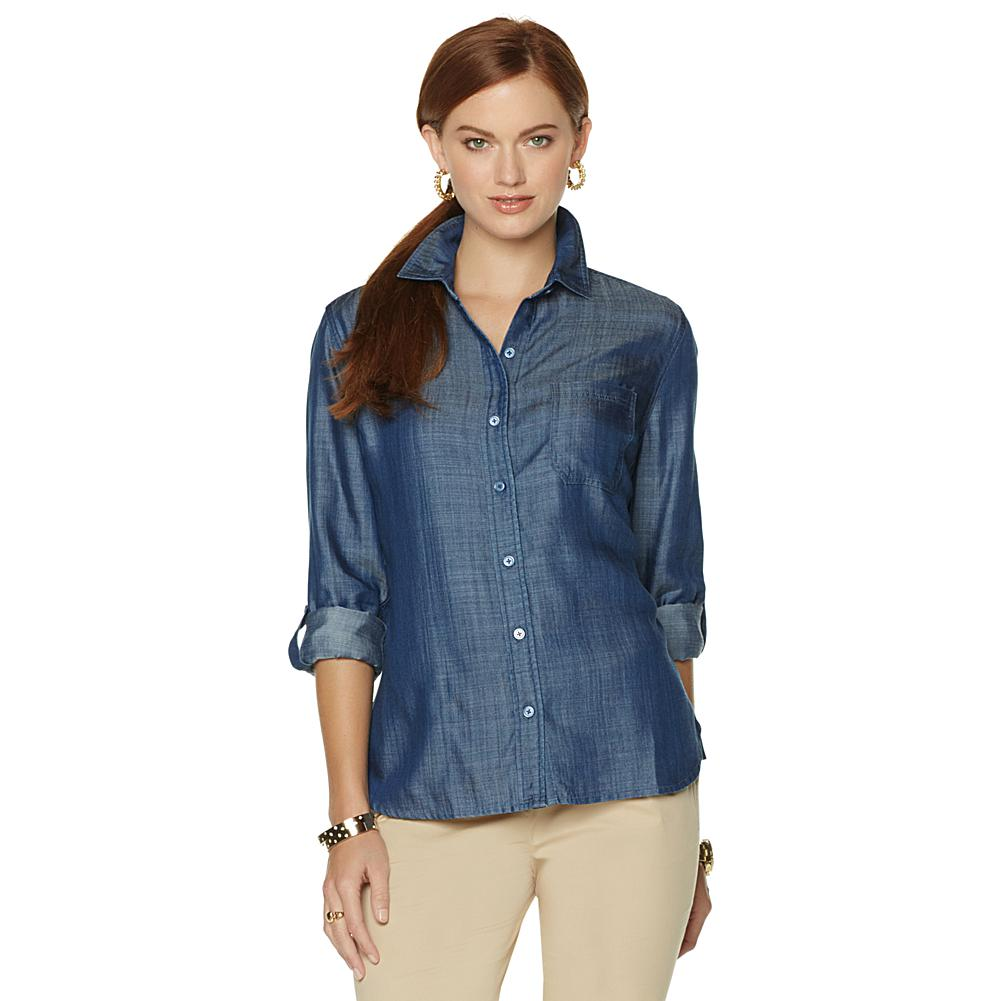 Wendy Williams Lightweight Denim Shirt