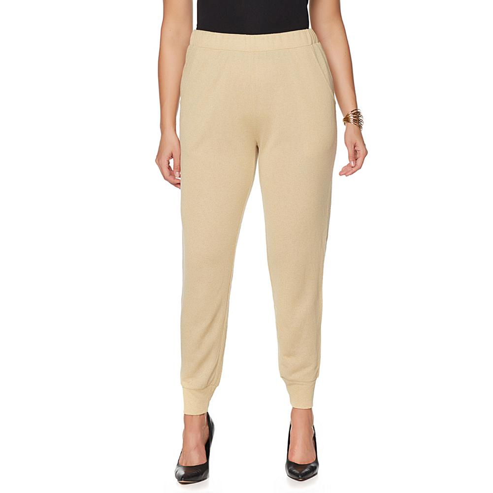 Wendy Williams Metallic Gold Jogger