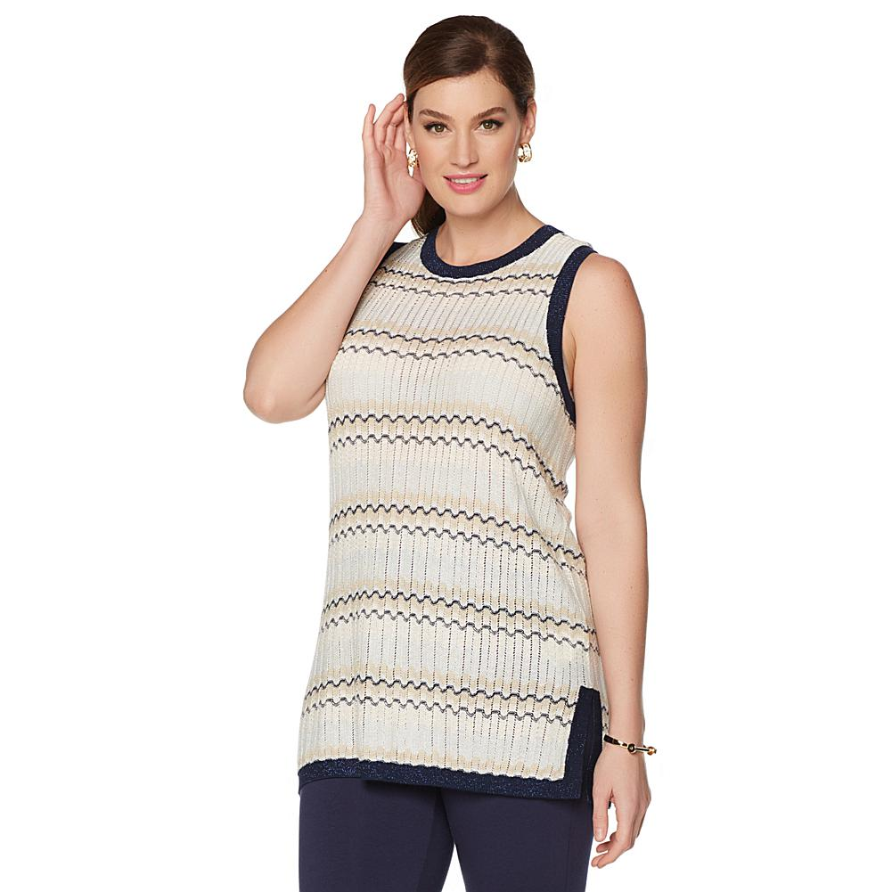 Wendy Williams Metallic Knit Sweater Tank