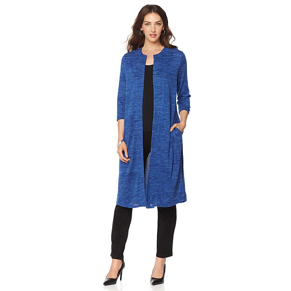Offer Slinky Brand Sweater Knit Duster with Pockets Before Special Offer Ends