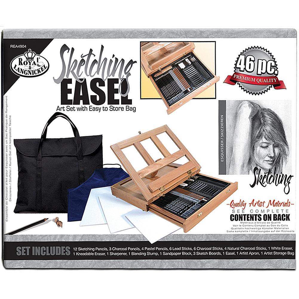 Royal Langnickel Sketching Easel Artist Kit with Storage Bag